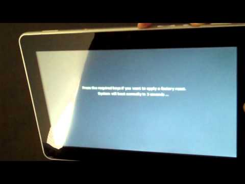 How to reset the SuperPad Flytouch 2 Google Android OS 10 inch