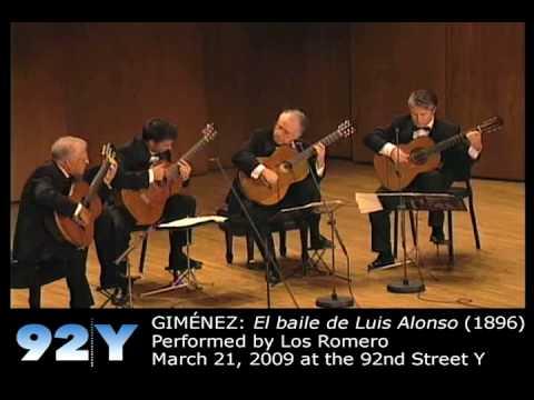 0 Los Romero: 50th Anniversary Concert at 92Y   GIMÉNEZ: El baile de Luis Alonso (1896)