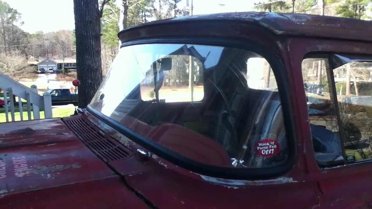 1957 60 Ford F100 Windshield Front Window Seal Install