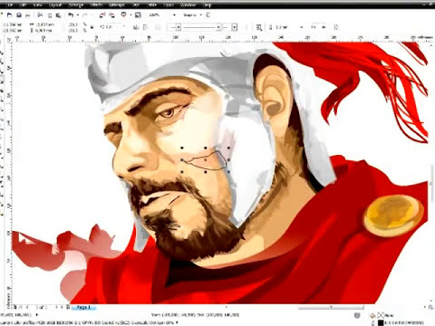 LINEKING: speed paint in CorelDRAW