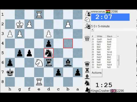 Chess World.net: Live Blitz #1960 vs ennecerus (2096) - Black vs English Opening