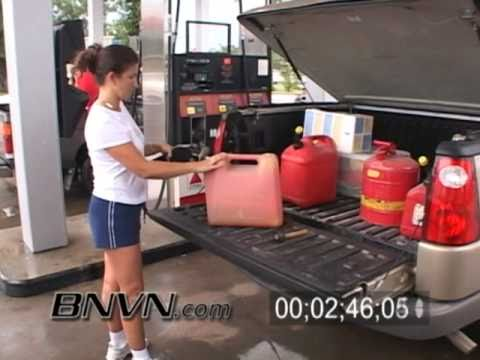 7/9/2005 Hurricane Dennis Video Part 2, Residents Getting Fuel, Pensacola FL