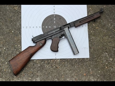 Shooting the Thompson M1A1 submachine gun