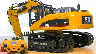 HUINA FM 1580 V2 FULL METAL RC EXCAVATOR UNBOXING, TEST!! AMEWI EXCAVATOR *CAT 322D