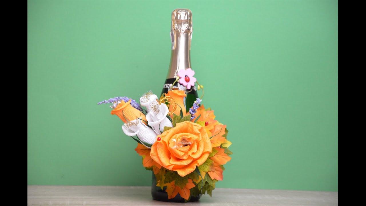 Букеты из конфет, декор бутылок вина и шампанского Olga Malinovskaya 90