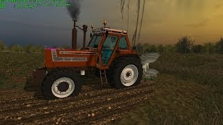 Farming Simulator 2013 Plowing With Fiatagri 180 90 and Er-Mo