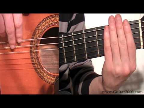 Tocar la guitarra Ejercicio de escala en Mi mayor para guitarra flamenca