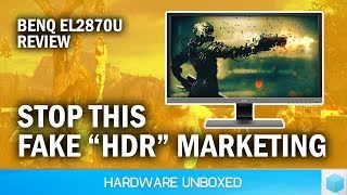 """BenQ EL2870U Review: Affordable 4K """"HDR""""? Maybe NOT, Watch Before You Buy"""