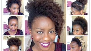 7 coiffures faciles pour cheveux crépus / frisés / bouclés