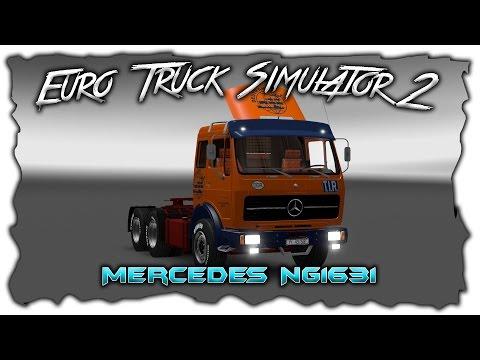 Euro Truck Simulator 2 обзор мода ( Mercedes NG1631 Deutrans v 2.0 )