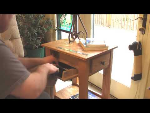 Handmade End Table / Nightstand with Secret Hidden Compartment for Handgun. Pistol. Revolver