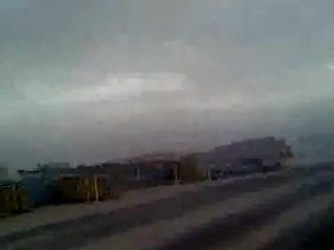Sand storm at Ras Al-Khair, KSA.flv