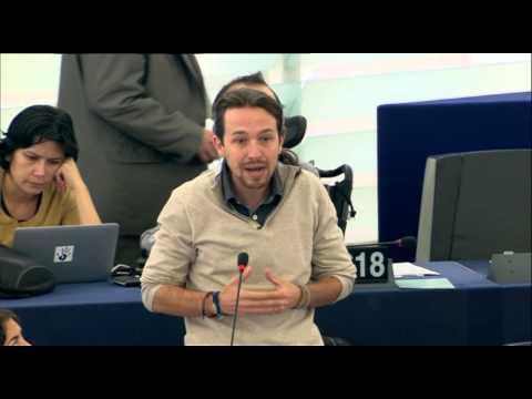 vístanse De Mujer Señores Juncker Y Cañete Pablo Iglesias En El Europarlamento video