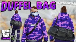 GTA 5 Online - How To Get Duffel Bag! Best Duffel Bag Glitch! Cool Outfits Clothing (GTA 5 Glitches)