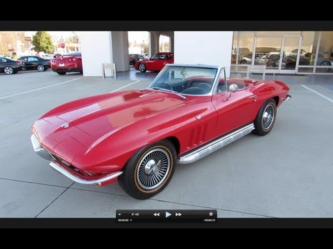 Corvette Stingray Info on 1965 Chevrolet Corvette Stingray Start Up  Exhaust  And In Depth Tour