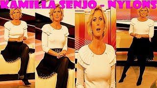 Kamilla Senjo HD Nylons Pantyhose Collant Strumpfhose on ARD Brisant