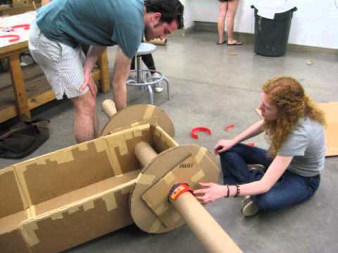 how to make a 3d tv out of cardboard