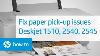 Printer Does Not Pick Paper - Deskjet 1510, 2540, And 2545 Printers