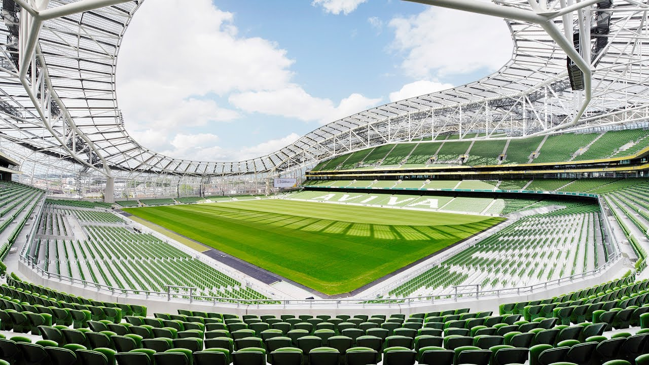 Aviva Stadium with SUNTUF and SUNSKY