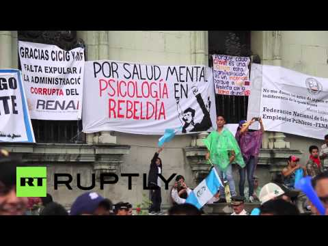Guatemala: Thousands-strong, anti-government protest continues in Guatemala City