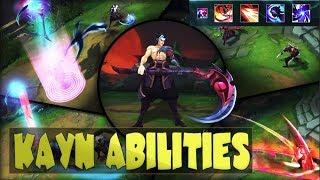 KAYN ABILITIES SPOTLIGHT GAMEPLAY - League of Legends New Champion