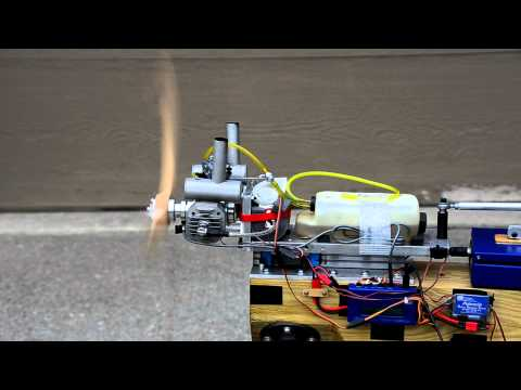RCGF 40cc Twin-cylinder Engine PC-Controlled Thrust Test