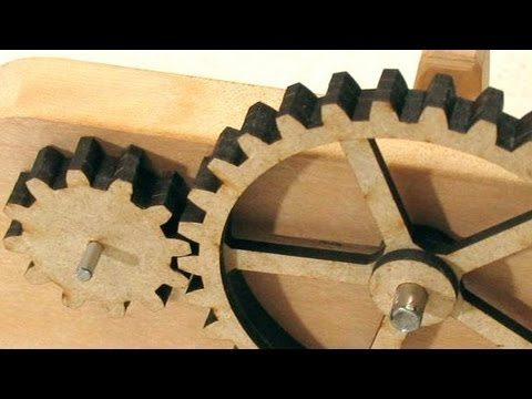 Cutting Gears On The Laser Cutter Youtube