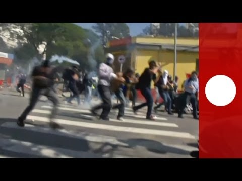 World Cup 2014: Clashes & tear gas in Sao Paulo hours before opening match