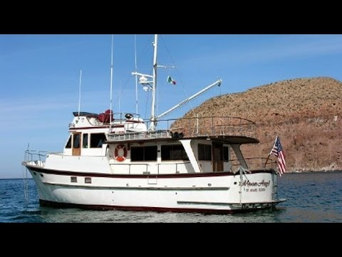 50 Cheoy Lee Long Range Trawler Yacht Tour Youtube