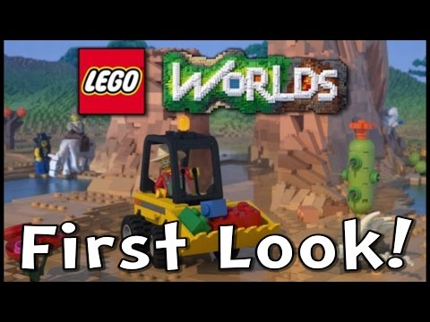 LEGO Worlds Gameplay First Look! (EXPLORE! DISCOVER! CREATE!)