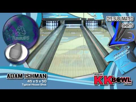 Ebonite Pursuit S Bowling Ball Thrown By Adam Ishman Of K&amp K Bowling Services