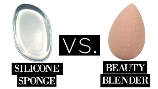 THIS OR THAT: SILICONE MAKEUP SPONGE VS. BEAUTY BLENDER // Silicone Sponge tested!!