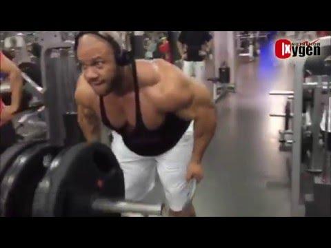 Phil Heath Workout ( Back + Biceps )  at Oxygen Gym