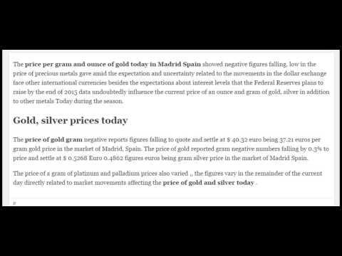 Gold gram prices silver platinum palladium rates today Monday July 20 2015 07/20/15