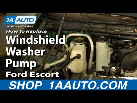 How To Replace Fix Broken Windshield Washer Pump 1998-03 Ford Escort ZX2
