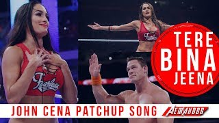 JOHN CENA & NIKKI BELLA | TERE BINA JEENA SAZA HO GYA | VIDEO SONG