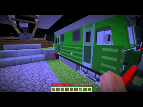 Minecraft: Ukázka Modu | Train & Zeppelin Mod | HD