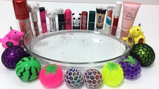 MIXING STRESS BALLS AND MAKEUP INTO CLEAR SLIME ! MOST SATISFYING SLIME VIDEOS | TOM SLIME