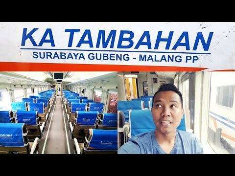 Trip by Train - Kereta Api Tambahan Malang Surabaya rangkaian Jayakarta