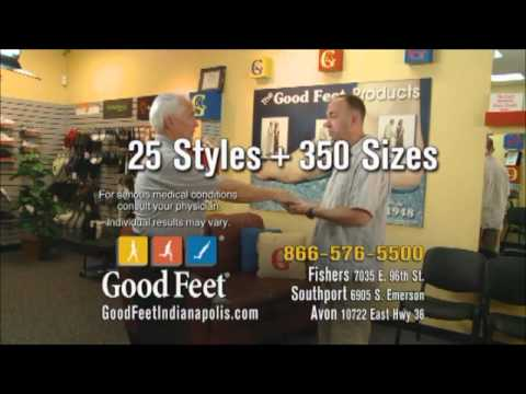 Indianapolis Good feet arch supports plantar fasciitis Heel Foot pain relief Butler Basketball.wmv