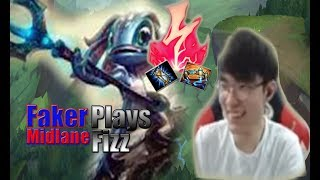Playing Fizz SKT T1Faker Makes Trick Moves,He's even good at streaming now..