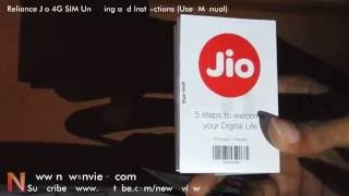 Reliance Jio 4G SIM for All Unboxing and Usage Guide Instruction