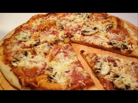 Пицца как в Пиццерии. Тонкая Хрустящая Пицца как в Пиццерии