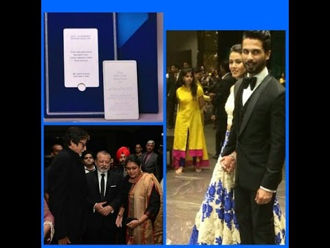 Bollywood Star Shahid Kapoor and Mira Rajput Exclusive Mumbai Wedding Reception