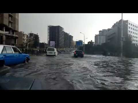Flood In Addis Road  ETHIOPIA / Addis Ababa City, Africa Avenue: Bole Rwanda - At Karamara Bridge