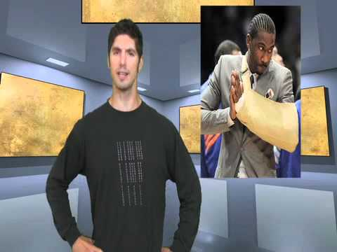 Not Newsworthy News 8: The Dumbass Amare Stoudamire punching his hand through glass!