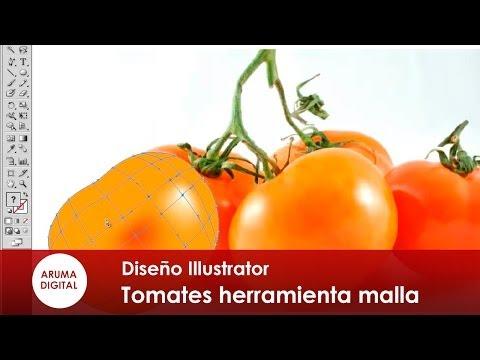 Illustrator 016 Tomates realistas con la herramienta malla