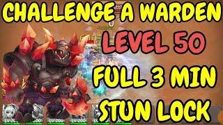 Challenge A Warden l Level 50 l Full 3min Stun Lock l Castle Clash