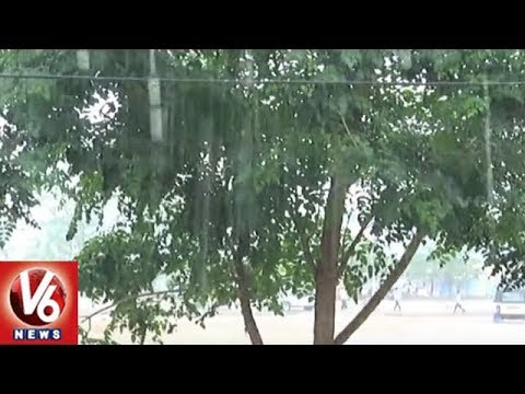 Heavy Rain Lashes Karimnagar City | Weather Report | V6 News