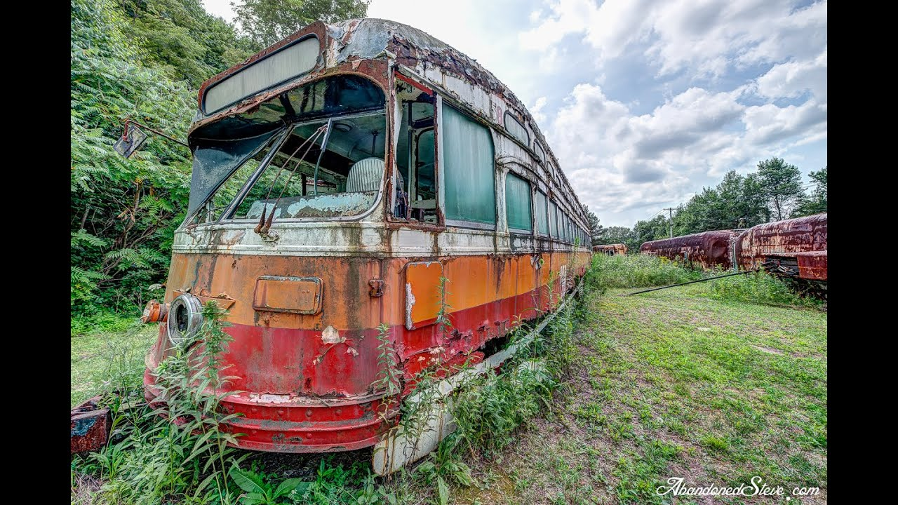 Urban Exploration Abandoned Trolley Streetcar